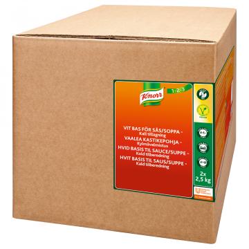 Knorr Vaalea kastikepohja, kylmävalmistus 2x2,5kg/62,5L