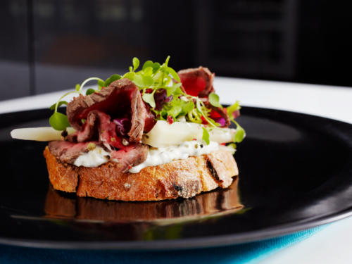 Saga  Spicy  Beef  Pastrami On  Toast
